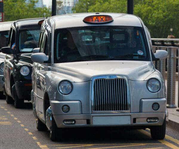 Silver manchester taxi